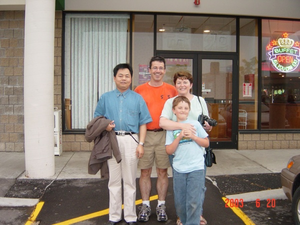 Dr. Jia with Martin, Kathryn, and Phil in 2003