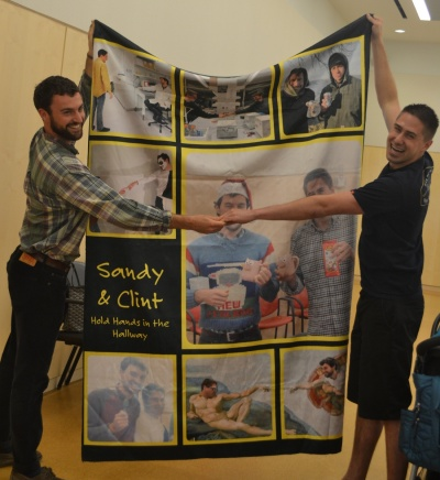 Sandy and Clint blanket