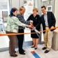 Olga Padilla-Zakour, professor and director of the Cornell Food Venture Center, Polly Foss, global general manager, 3M Food Safety, 3M Corporation, Kathryn J. Boor, the Ronald P. Lynch Dean, and Martin Wiedmann, Gellert Family Professor in Food Safety, cut the ribbon to the newly named 3M Food Safety and Quality Lab.